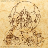 Bodhisattav | Ink | 10.23.2014. | Character (c) The Jeweled Horn