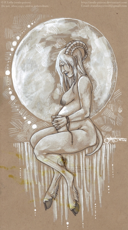 The Moon's Blessing | Mixed Media | 6.13.2009.