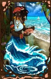 Orisha Yemaya Asesu | Paint Tool SAI. Photoshop CS2 | 8.25.2016.