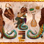 Zahar Reference Sheet | Ink. Photoshop CS2. | 3.3.2017. | Character (c) Corvomancer