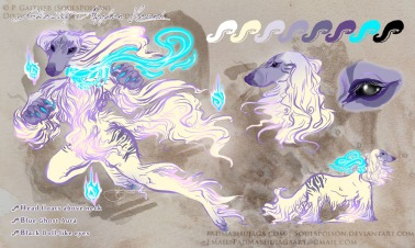 Ghostly Afghan Hound | Paint Tool SAI. Photoshop CS2. | 7.27.2017.