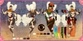 Tasanee Reference Sheet | Paint Tool SAI. Photoshop CS2 | 11.30.2017