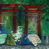 茶の湯 | Mixed Media | 3.24.2018 | Characters (c) Kitsune Illusions