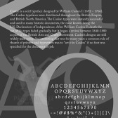 Caslon Typeface Poster | Adobe InDesign | 5.20.2007.